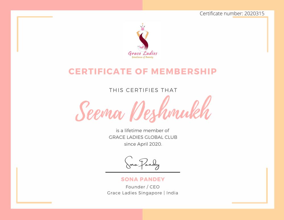 Salmon and Light Orange Minimal Membership Certificate