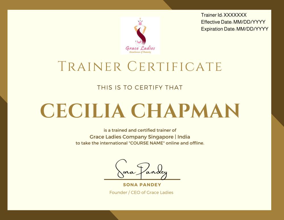 Trainer Certificate